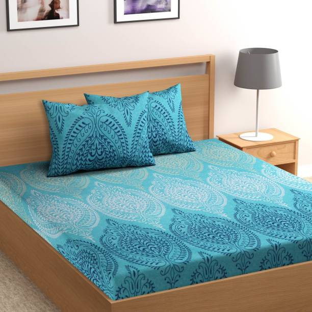 Flipkart SmartBuy 104 TC Cotton Double Paisley Bedsheet