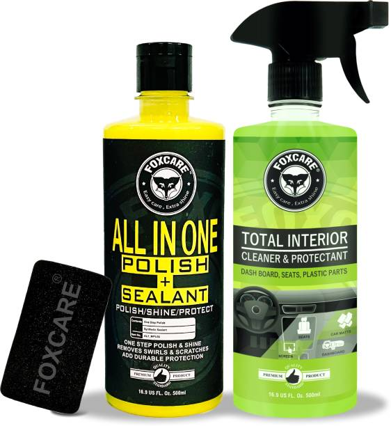 FOXCARE Liquid Car Polish for Exterior, Dashboard, Metal Parts, Tyres, Leather, Headlight, Chrome Accent