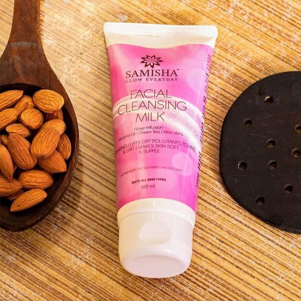 Samisha Organic Hydrating Cleansing Milk For Deep Cleansing, Soft, Supple & Glowing Skin - 100 ML
