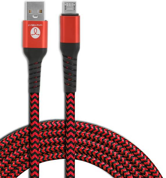 Remembrand 2.4A Turbo Fast Nylon Braided 2.4 A 1 m Nylon Braiding Micro USB Cable