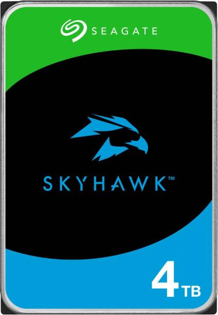 Seagate Skyhawk Video with 3.5 inch SATA 6 Gb/s 64 MB Cache for DVR NVR Security Camera System with 3 Years Rescue Services 4 TB Surveillance Systems Internal Hard Disk Drive (ST4000VX013)