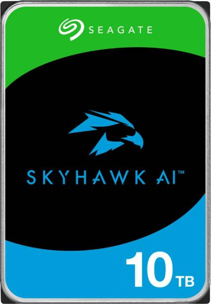 Seagate Skyhawk AI with 3.5 inch SATA 6 Gb/s 256 MB Cache for DVR NVR Security Camera System with 3 Years Rescue Services 10 TB Surveillance Systems Internal Hard Disk Drive (ST10000VE001)