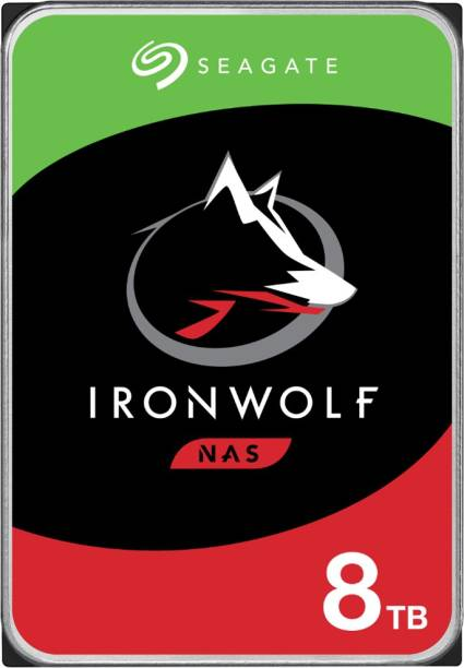 Seagate Ironwolf NAS with 3.5 inch SATA 6 Gb/s 7200 RPM 256 MB Cache for RAID Network Attached Storage 8 TB Network Attached Storage Internal Hard Disk Drive (ST8000VN004)