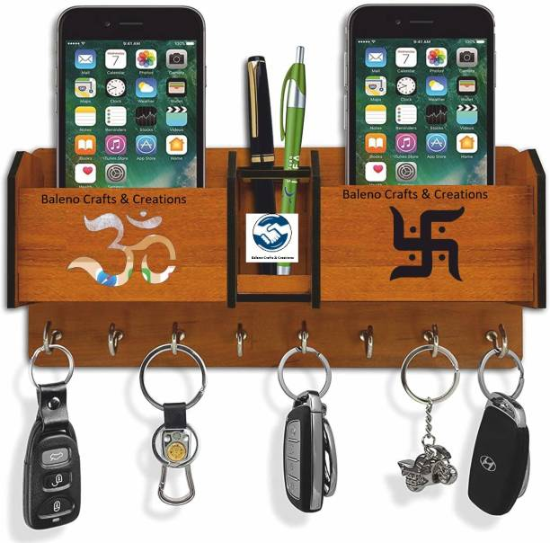 Baleno Crafts & Creations Wood Key Holder