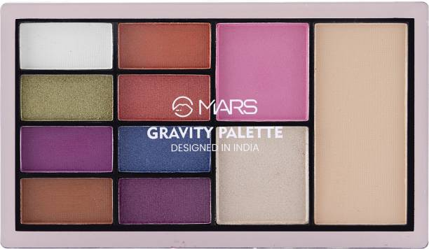 MARS 8 EYESHADOW,1 HIGHLIGHTER, 1 BLUSHER AND 1 COMPACT POWDER GRAVITY PALETTE