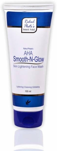 Rahul Phate's Research Product Rahul Phate AHA Smooth-N-Glow Skin Lightening Face Wash 100 ml