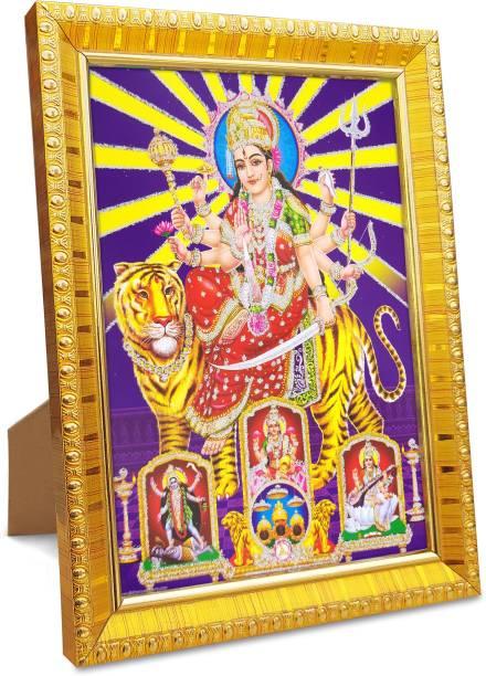 koshtak durga maa / sherawali with laxmi maa saraswati mata kali mata Religious Frame