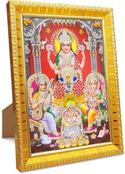 koshtak Laxmi / lakshmi / mahalaxmi with ganesh saraswati and dhan kuber Religious Frame