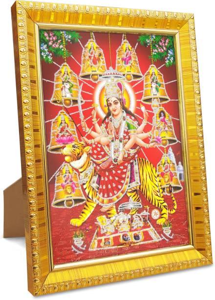koshtak durga maa / ambe / sherawali / nav durga / 9 Form on tiger / vaishno devi Religious Frame