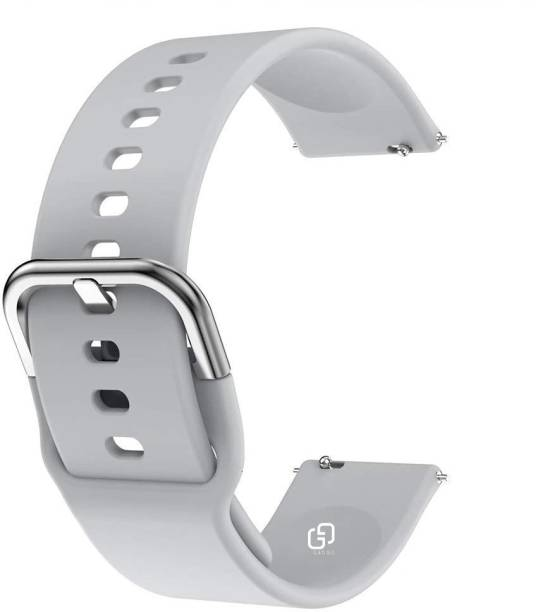 GADGO Premium Silicone Metal Hook 20 mm Band Strap Compatible with Samsung Galaxy Watch 3 41mm, Samsung Galaxy 42mm, Samsung Galaxy Active 40mm, Active 2 (40-44mm) / AmazeFit BIP/BIP Lite/AmazeFit GTS, Amazefit GTR (42mm) / VivoActive 3 / RealMe Classic, Fashion Watch & Smartwatch with 20mm Lugs Smart Watch Strap