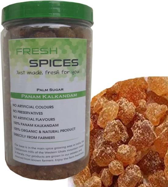 Fresh Spices Palm Sugar/Panam kalkandam - Pure & Organic 400g (In a Jar) Sugar
