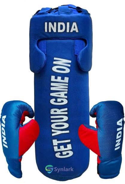 Synlark Boxing Kit with Gloves and Head Guard for kids Boys/Girls 52 Cms Boxing
