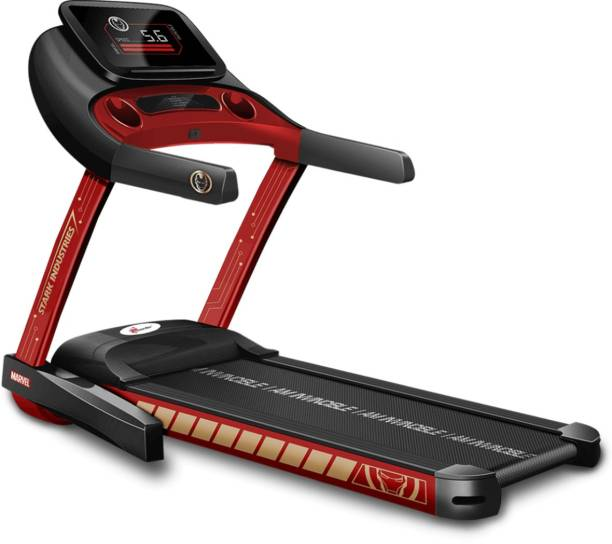 Powermax Fitness MT-1M Ironman Edition Smart Treadmill with Manual Incline, Exercise Machine for Home Gym and Cardio Training Treadmill
