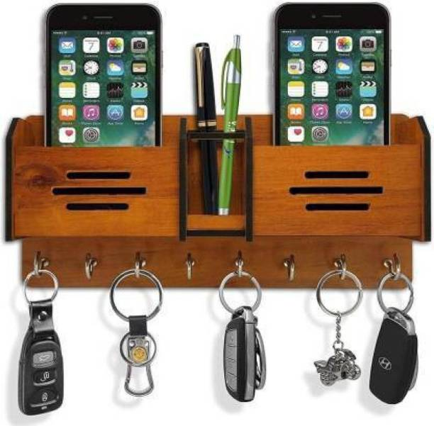Brothers creation Beautiful Wooden Key Holder For Home Wall Decoration