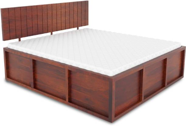 Flipkart Perfect Homes Contemporary and Modern Solid Wood King Box Bed