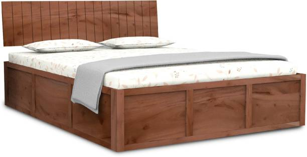Flipkart Perfect Homes Contemporary and Modern Solid Wood Queen Box Bed