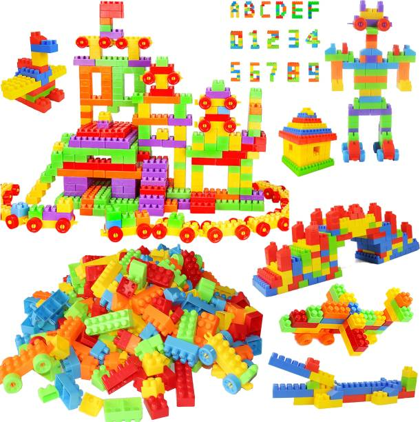 latex 256+ Pcs Building Blocks Toy Set Creative Learning Educational & Intellectual Block Toys For Kids Boys and Girls