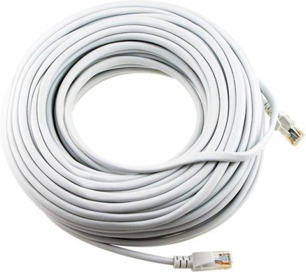 ANDTRONICS CAT-6 Snagless Network RJ45 Ethernet Patch LAN Cable CAT6 - 30M / 90 ft - White 30 m LAN Cable