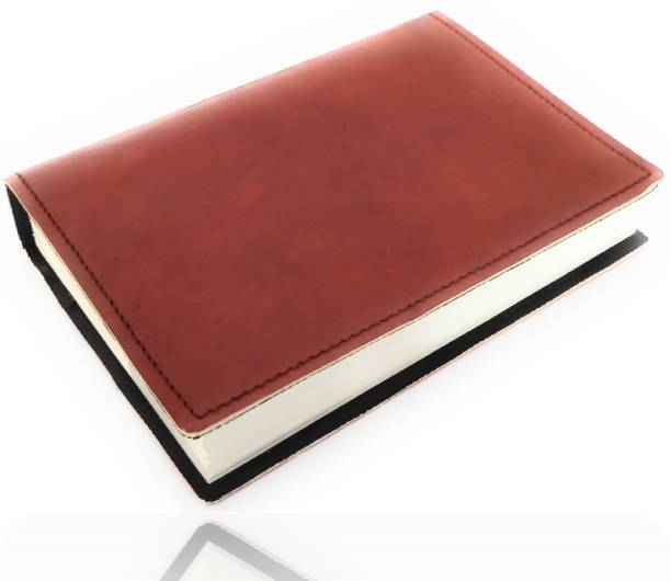 Coronal Leather Journals Large Size 7 Inches X 5 Inches Handmade Unique Leather Diary Simple Register for School and College in Brown Color Premium Quality Leather A5 Notebook Unruled 200 Pages