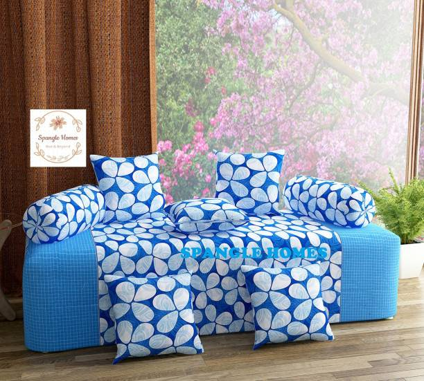 Spangle Homes Cotton Floral Diwan Set