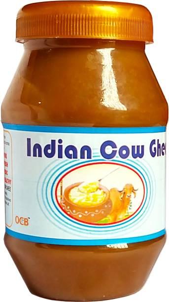 OCB Indian Cow Ghee 100% Pure A2 Gir Cow Desi Ghee 250 g Plastic Bottle