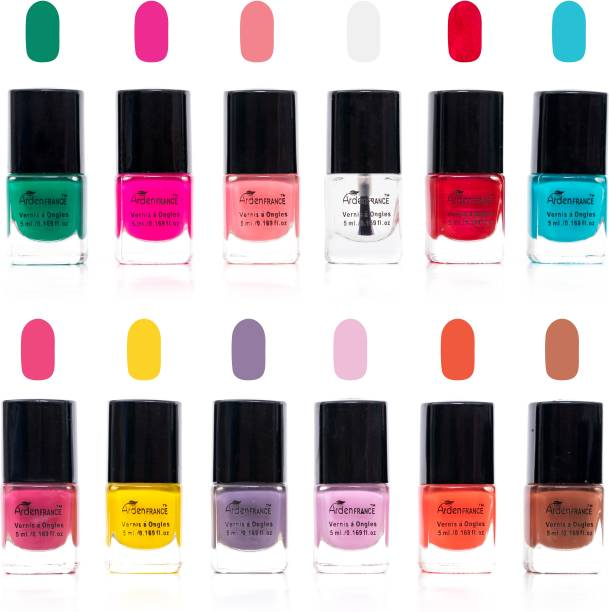 ArdenFRANCE 12 Pastel Collection Nail Polish Multicolor