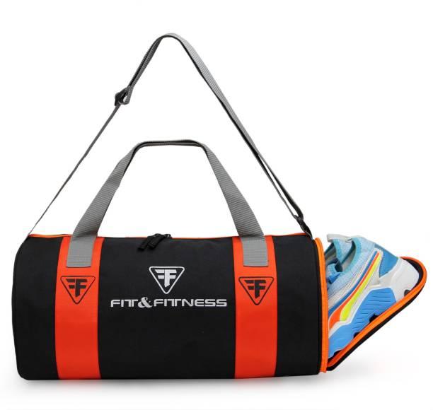 FIT & FITNESS Gym Duffel Bag - Orange & Blue Men & Women Navy Sports Duffel