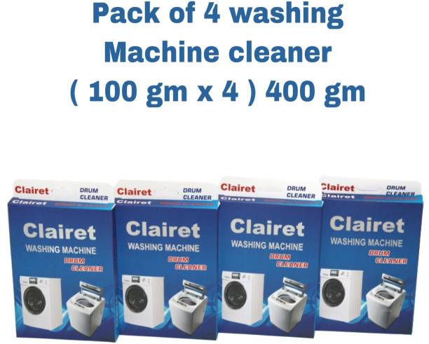 CLAIRET WASHING Machine Cleaning Powder for Drum/Tub cleaning -100G PER PACK X 4 = 400 Gm Detergent Powder 400 g