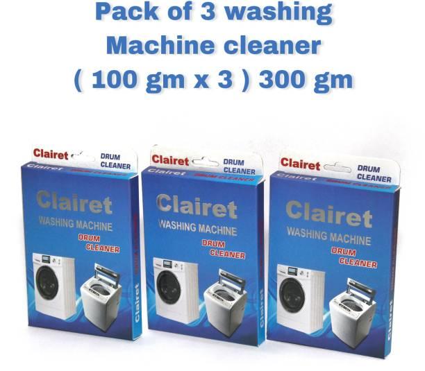 CLAIRET WASHING Machine Cleaning Powder for Drum/Tub cleaning -100G PER PACK X 3 = 300 Gm Detergent Powder 300 g