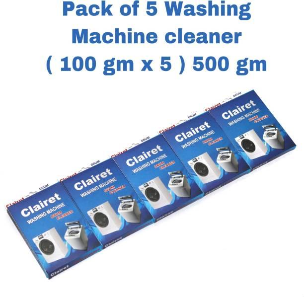 CLAIRET WASHING Machine Cleaning Powder for Drum/Tub cleaning -100G PER PACK X 5 = 500 Gm Detergent Powder 500 g
