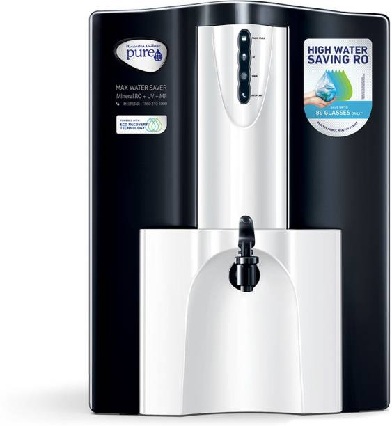 Pureit Max Water Saver 10 L RO + UV + MF Water Purifier with Eco Recovery Technology