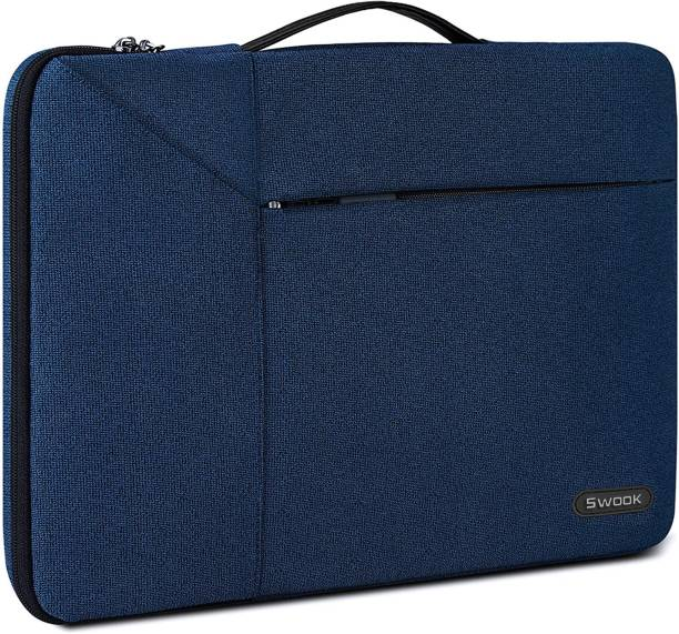 """SwooK Laptop Sleeve for 13-14 Inch Laptop Case 360 Protective Laptop Work Briefcase Bag Compatible with 13"""" 13.3 MacBook Air/Pro,13-14 inch Acer/ASUS/HP/Lenovo/Dell Notebook Laptop Bag"""