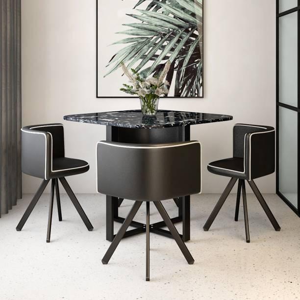 Durian Jenna Metal 4 Seater Dining Set