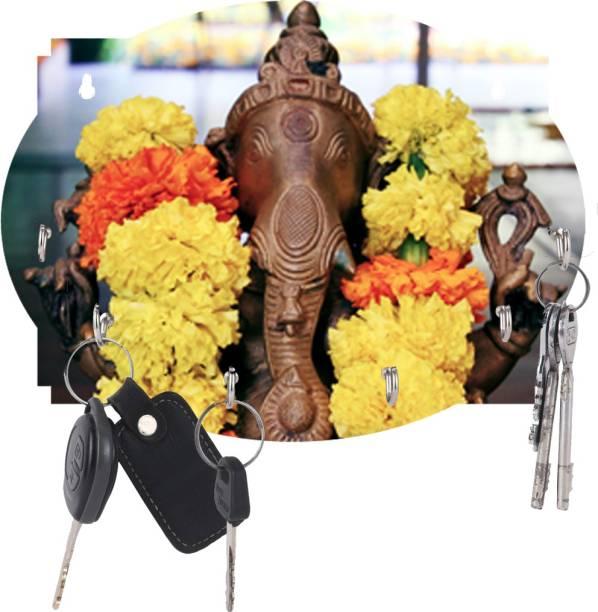 Naraniya Creation Ganesh Ji Beautiful Home /office Wood Key Holder