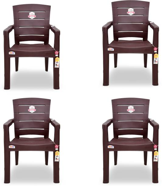 AVRO furniture 9955 MATT CHAIR (Pack Of 4) Plastic Outdoor Chair