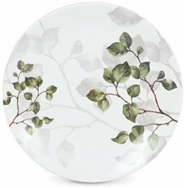 Golden Fish Melamine Leaves Printed Serving Small/starter Plates(Pack of 6, 7 inches) Half Plate