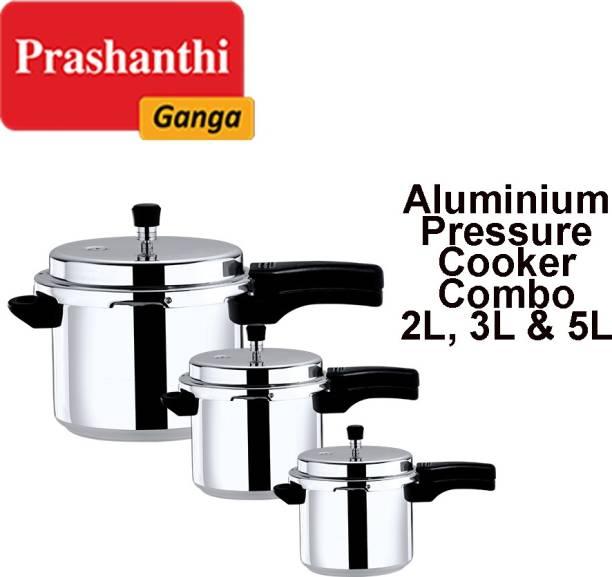 Prashanthi Ganga PRESSURE COOKER COMBO 2 L, 3 L, 5 L Pressure Cooker