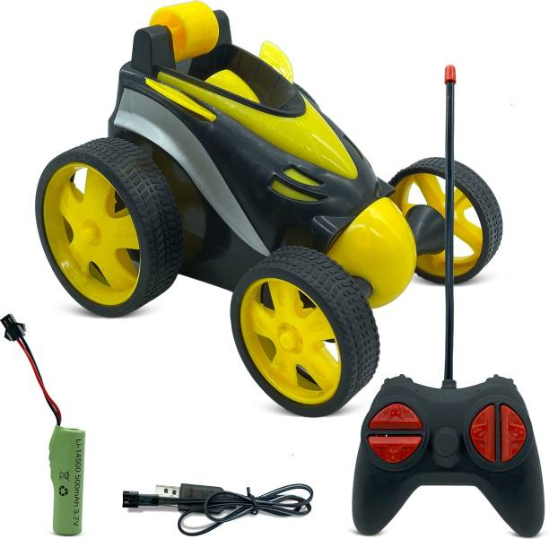 Miss & Chief RC Car Tumbling Stunt Dump Truck 360 Degree Rotating Remote Control Toy