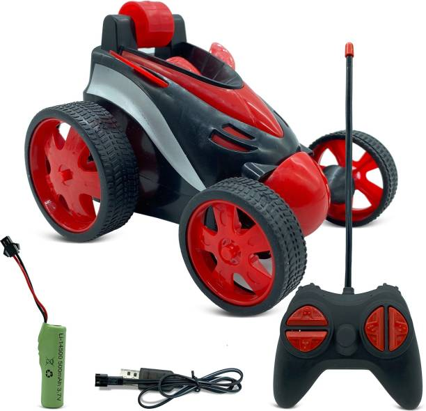 Miss & Chief Remote Control Car RC Stunt Vehicle 360°Rotating Rolling Radio Control Electric Race Car Boys Toys Kids Gifts