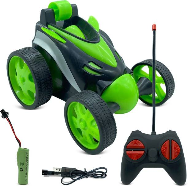Miss & Chief RC Tumbling Stunt Dump Truck 360 Degree Rotating Remote Control Toy