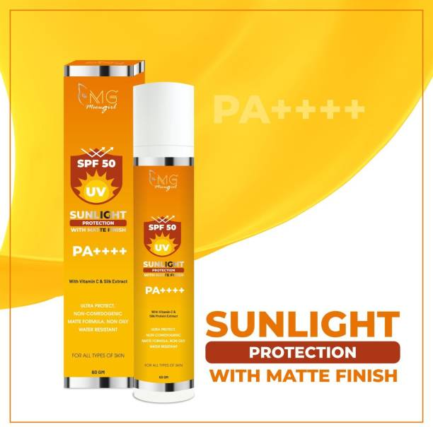 MGmeowgirl Sun Light Protection matte finish gel For Women's and Men's, 60ml - SPF 50 PA++++