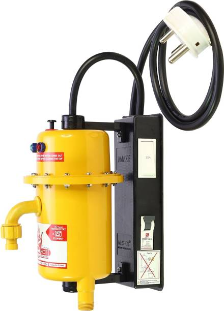 Mr.SHOT 1 L Instant Water Geyser (AMZ-21-OMR, Orange)