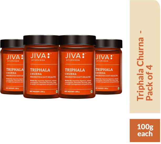 Jiva Triphala Churna - Improves Bowel Movement & Indigestion, Constipation and Digestive Disorders - Pack of 4