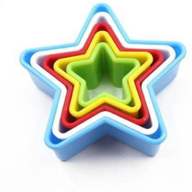 swarupachal Plastic Star Shape Cookie Cutter Set, Biscuit Cookie Cutter