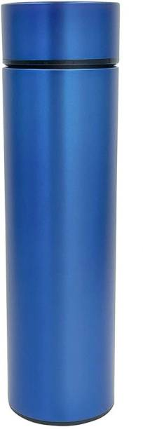 Adnate Double Wall Vacuum Flask Insulated Thermos Travel Water Bottle (Blue) 450 ml Flask