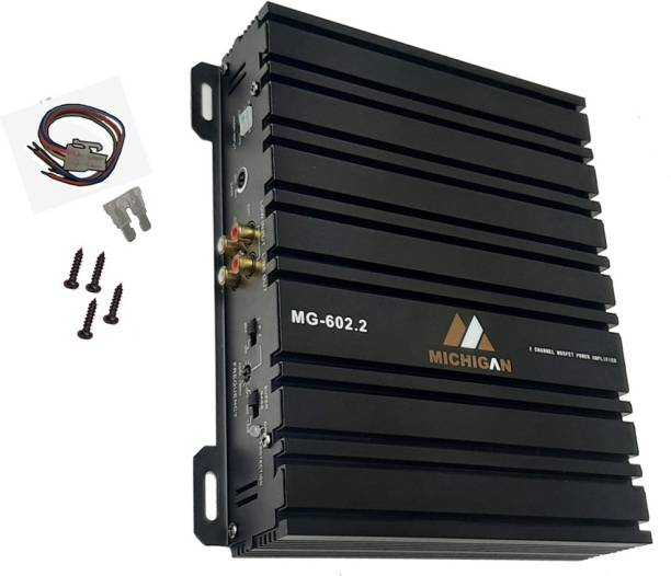 13-HI-13 Heavy body with High Quality Amplifier boosts your musical experience by giving a powerful stereo real input (2 channel RMS OUTPUT POWER 4 – 60W X 2CH ( 1900W MAX ) Two Class AB Car Amplifier