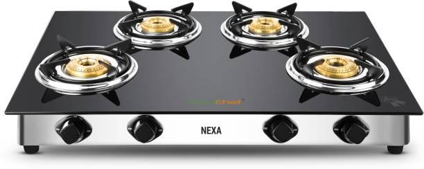 Greenchef Nexa Glass Manual Gas Stove