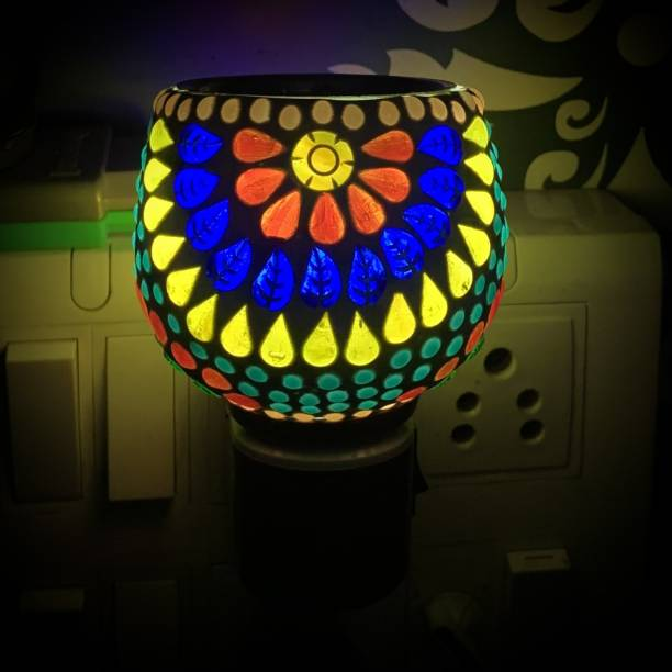 ASHTAMANGAL Electric Incense burner or kapoor dani With night lamp N PP1 Glass Incense Holder
