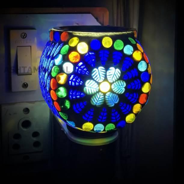 ASHTAMANGAL Electric Incense burner or kapoor dani With night lamp N S-4 Glass Incense Holder