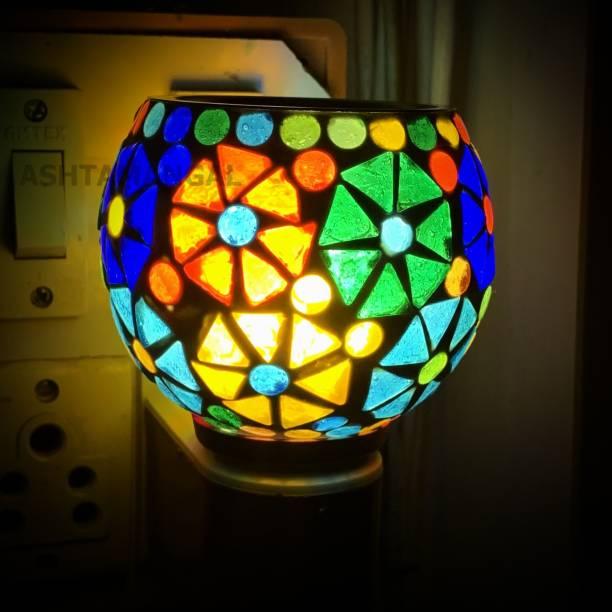 ASHTAMANGAL Electric Incense burner or kapoor dani With night lamp N 50 Glass Incense Holder